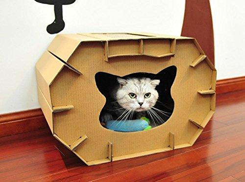 猫爪とぎ猫 段ボールハウス 猫爪とぎボックス ネコソファー 猫用品 組み立て式 猫箱 ねこばこ ダンボールハウス
