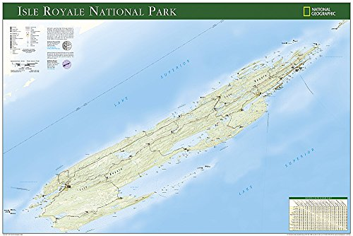 Download Isle Royale National Park: Wall Maps U.s. (National Geographic Reference Map) 159775157X