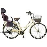 Lupinusルピナス 自転車 26インチ LP-266HA-knrj-br シティサイクル LEDオートライト SHIMANO製6段ギア 樹脂製後子乗せブラウン