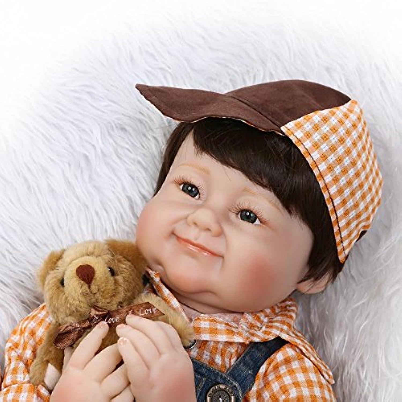 シミュレーション56 cm 22インチRebornベビー人形ソフトSiliconeビニールクロスボディBoy人形ハンドメイド新生児赤ちゃん人形