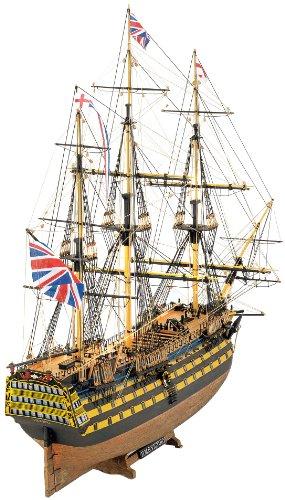 1154 輸入木製帆船模型 マモリ社 MV56 H.M.S. ビクトリー小 VICTRY