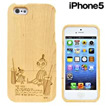 マリモクラフト ムーミン Woodshell for iPhone5 専用 ウッドケース (木製) リトルミイ&ミムラ/ナチュラル MOM-047
