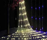 W-ONLY YOU-J クリスマスは白、暖かい、ネットワークが(ウォームホワイト)LED番目の8モードのランプ点灯、文字列の妖精スターライトパティオ庭の装飾の結婚式のパーティーの2mx2m 144のLED点灯します