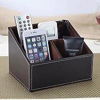 WTL かご?バスケット 革の収納ボックスの家のデスクトップの破片の収納ボックス (色 : C, サイズ さいず : 18*14.5*13cm)