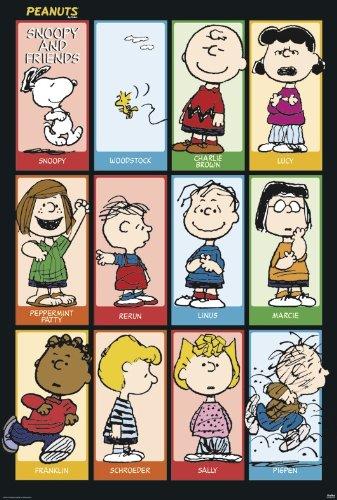Peanuts Poster Snoopy & Friends (68,5cm x 101,5cm)