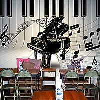 Wuyyii カスタム壁画カスタム壁紙レトロ人格レジャーバーKtvヨーロッパとアメリカのソファの背景ピアノの壁紙Mural-200X140Cm