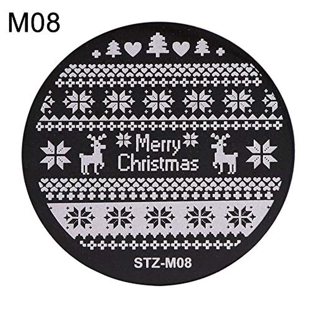 馬鹿げたナプキンエレメンタルhamulekfae-クリスマススノーフレーク鹿の靴ネイルスタンピングプレートスタンプイメージテンプレートの装飾8