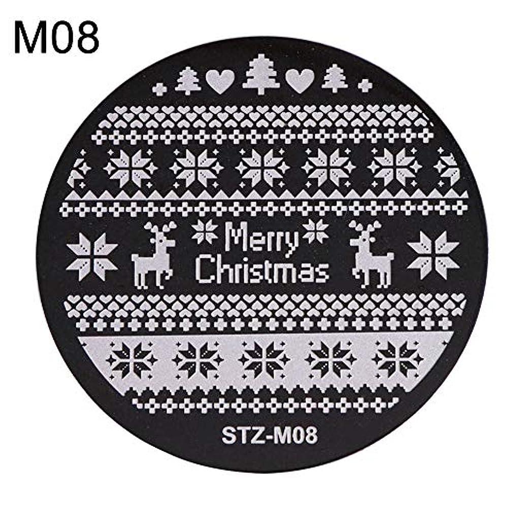 カップル姿を消す事実hamulekfae-クリスマススノーフレーク鹿の靴ネイルスタンピングプレートスタンプイメージテンプレートの装飾8