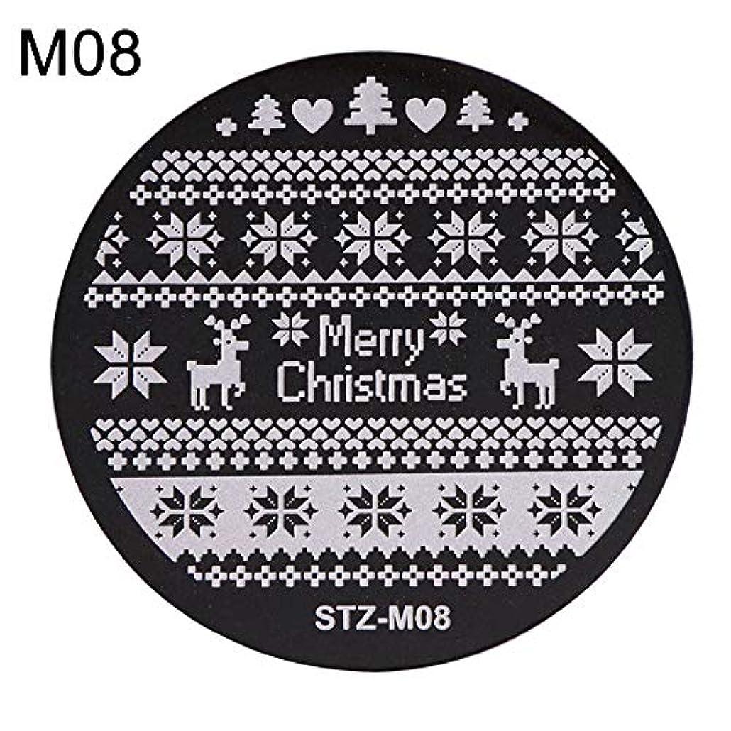 hamulekfae-クリスマススノーフレーク鹿の靴ネイルスタンピングプレートスタンプイメージテンプレートの装飾8