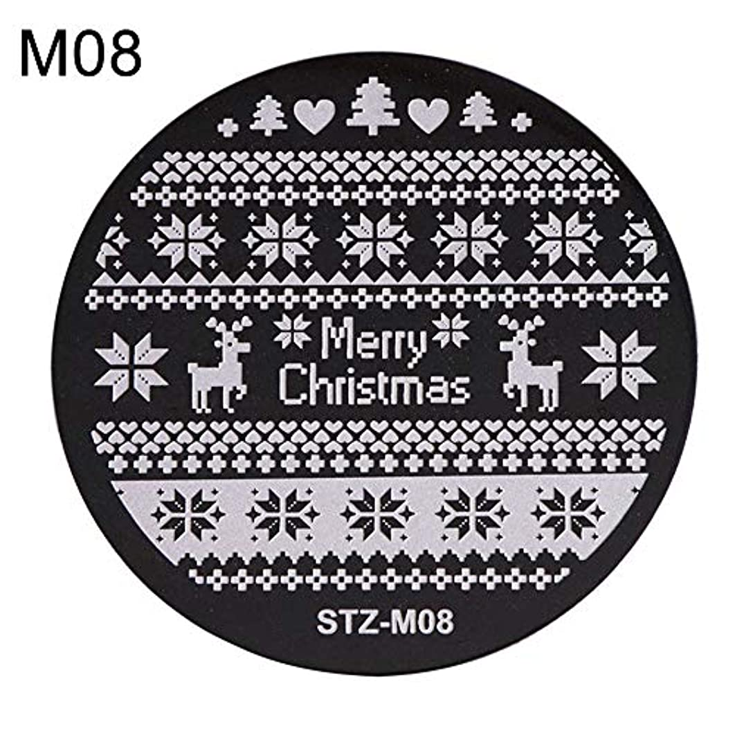 無法者呼ぶカメhamulekfae-クリスマススノーフレーク鹿の靴ネイルスタンピングプレートスタンプイメージテンプレートの装飾8