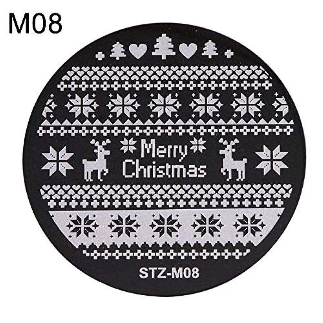振るう日曜日についてhamulekfae-クリスマススノーフレーク鹿の靴ネイルスタンピングプレートスタンプイメージテンプレートの装飾8