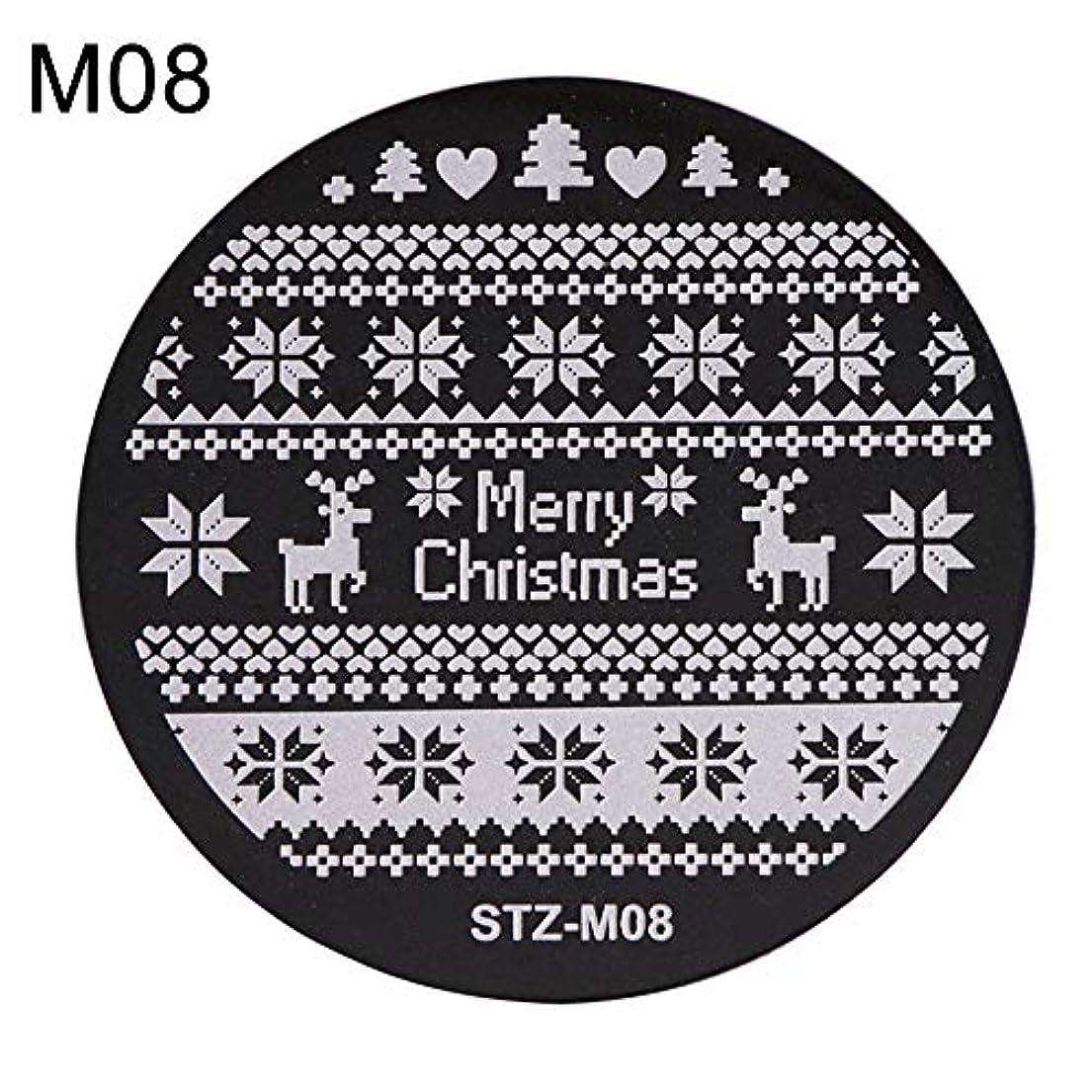 むしろ上級マルコポーロhamulekfae-クリスマススノーフレーク鹿の靴ネイルスタンピングプレートスタンプイメージテンプレートの装飾8
