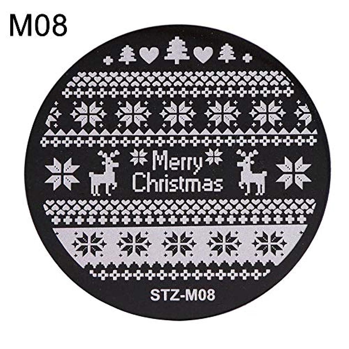 どう?動かす突き刺すhamulekfae-クリスマススノーフレーク鹿の靴ネイルスタンピングプレートスタンプイメージテンプレートの装飾8