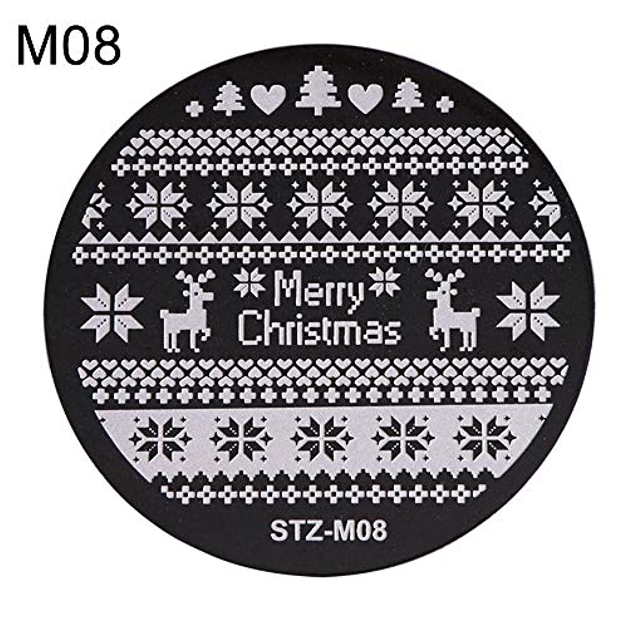 かなり証人誤解を招くhamulekfae-クリスマススノーフレーク鹿の靴ネイルスタンピングプレートスタンプイメージテンプレートの装飾8