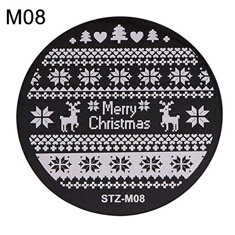 権限を与える下向き中世のhamulekfae-クリスマススノーフレーク鹿の靴ネイルスタンピングプレートスタンプイメージテンプレートの装飾8