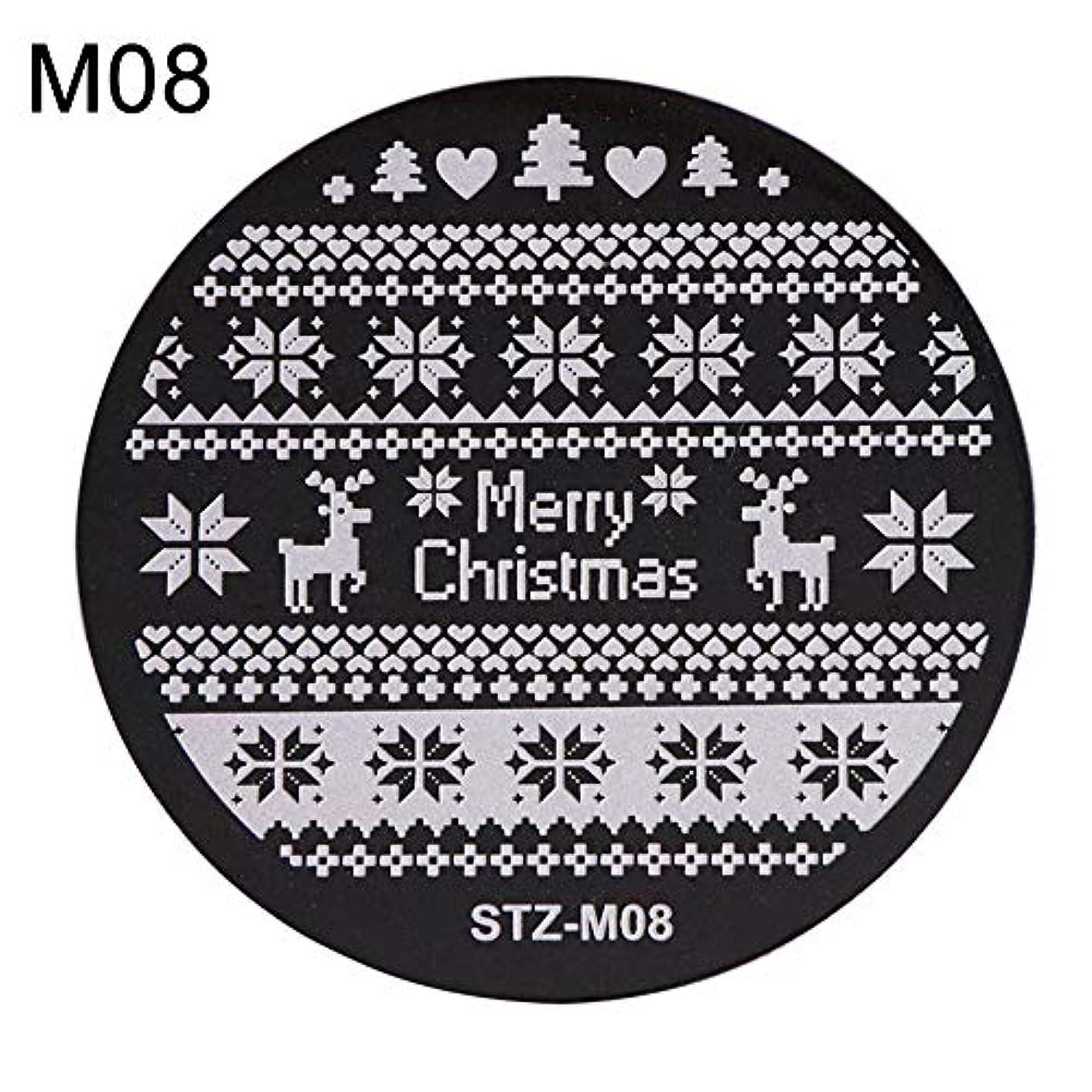 チーズ吐く幻影hamulekfae-クリスマススノーフレーク鹿の靴ネイルスタンピングプレートスタンプイメージテンプレートの装飾8