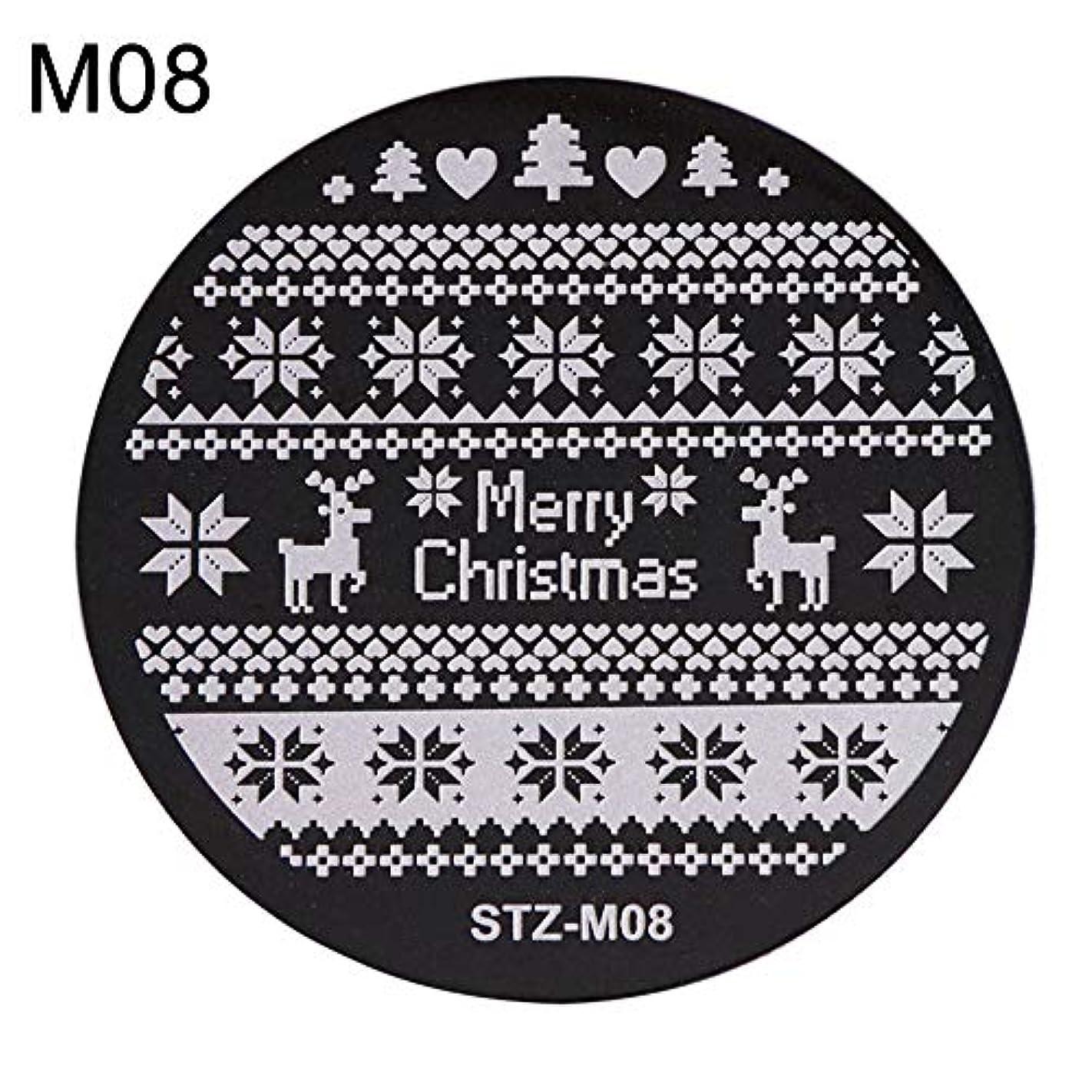 オーロック船乗り貧しいhamulekfae-クリスマススノーフレーク鹿の靴ネイルスタンピングプレートスタンプイメージテンプレートの装飾8