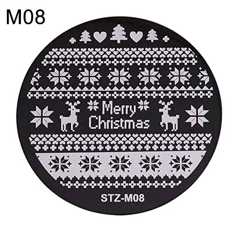 頭痛思いつく多用途hamulekfae-クリスマススノーフレーク鹿の靴ネイルスタンピングプレートスタンプイメージテンプレートの装飾8