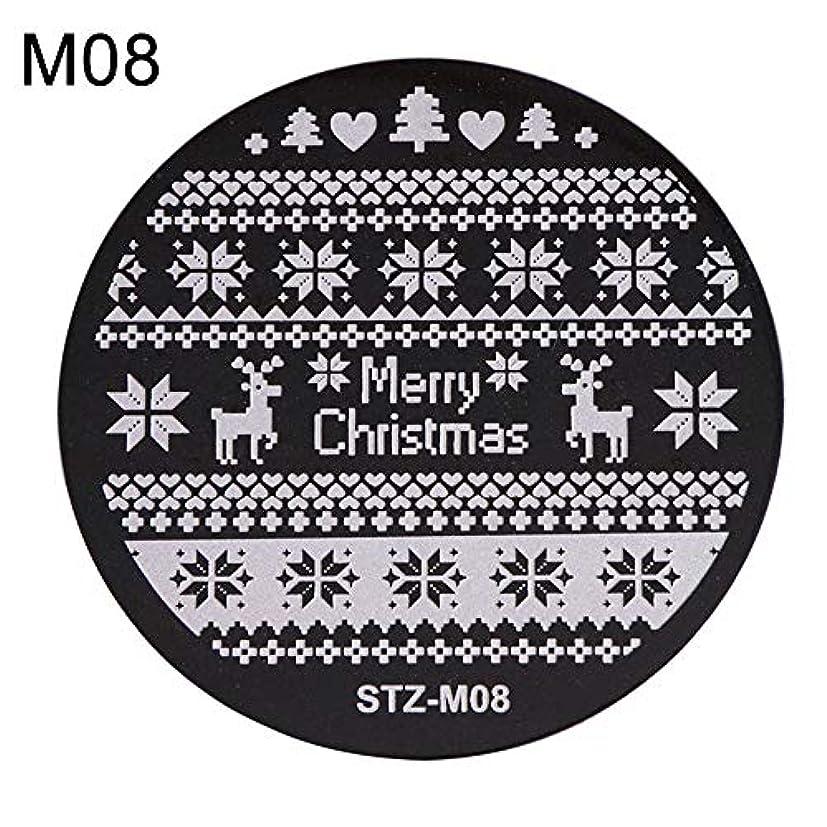 屋内示す第二hamulekfae-クリスマススノーフレーク鹿の靴ネイルスタンピングプレートスタンプイメージテンプレートの装飾8