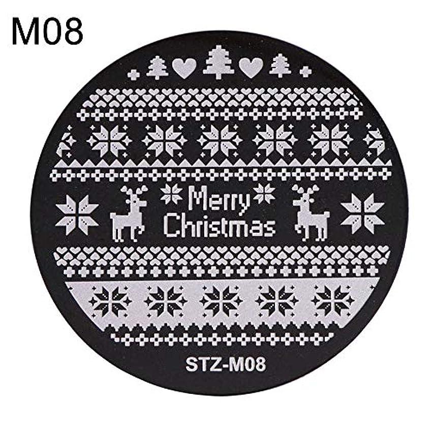 価値報復橋脚hamulekfae-クリスマススノーフレーク鹿の靴ネイルスタンピングプレートスタンプイメージテンプレートの装飾8