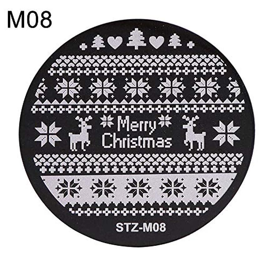 触手ダイジェスト保険をかけるhamulekfae-クリスマススノーフレーク鹿の靴ネイルスタンピングプレートスタンプイメージテンプレートの装飾8