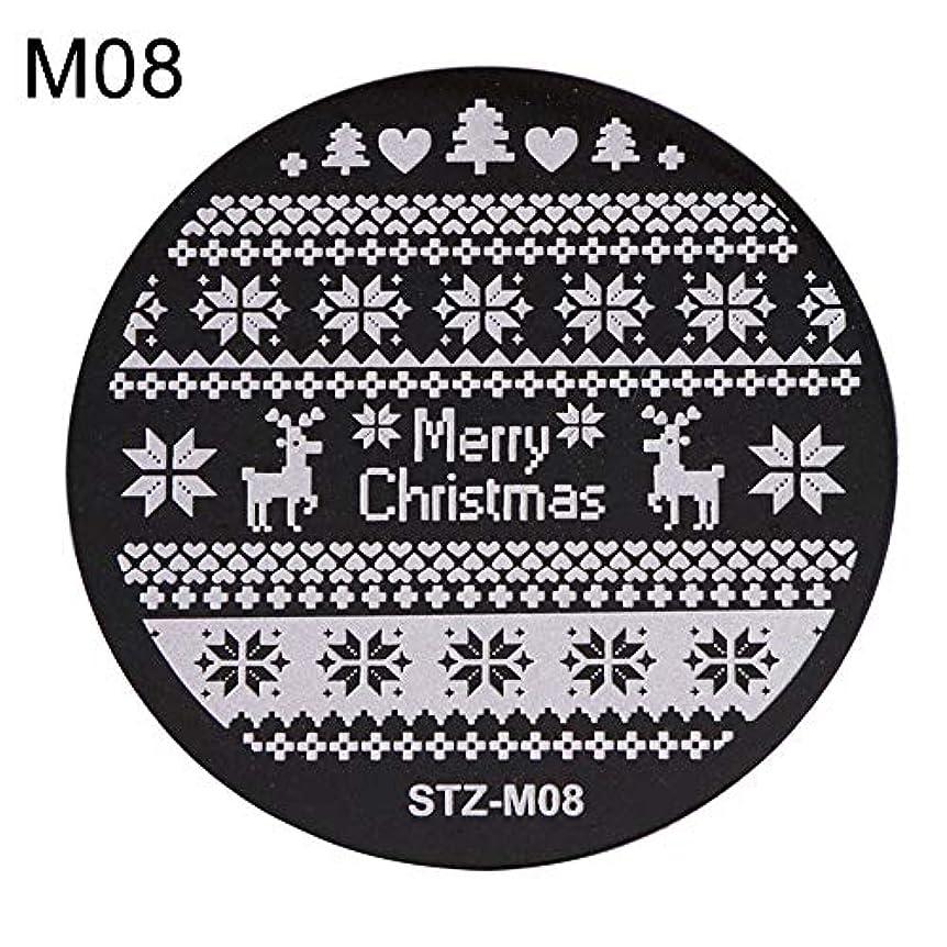 恐ろしいコンパクト役割hamulekfae-クリスマススノーフレーク鹿の靴ネイルスタンピングプレートスタンプイメージテンプレートの装飾8