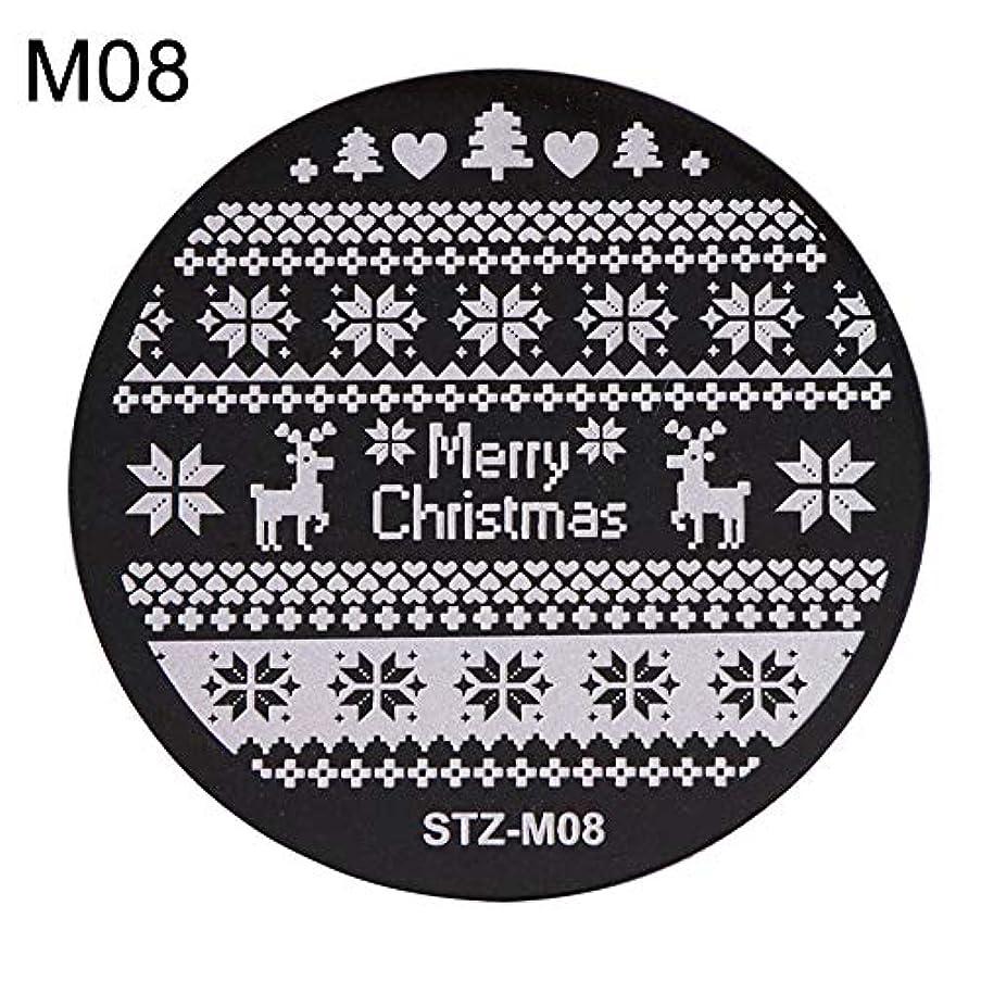礼拝通行料金風刺hamulekfae-クリスマススノーフレーク鹿の靴ネイルスタンピングプレートスタンプイメージテンプレートの装飾8