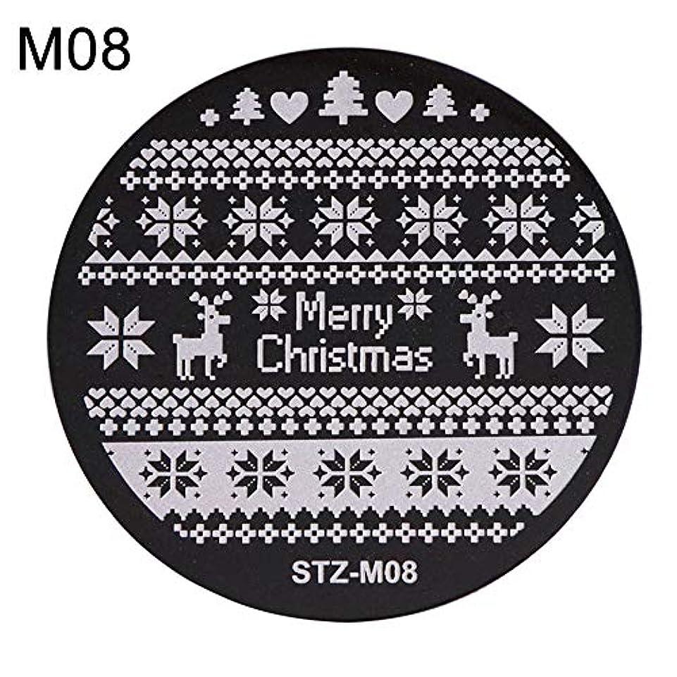 ひどい放散するグレーhamulekfae-クリスマススノーフレーク鹿の靴ネイルスタンピングプレートスタンプイメージテンプレートの装飾8