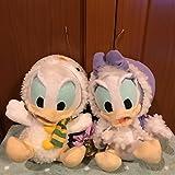 希少 Disney baby ドナルドダック&デイジーダック セット ぬいぐるみ クリスマス サンタクロース 冬 非売品 レア ディズニーベビー