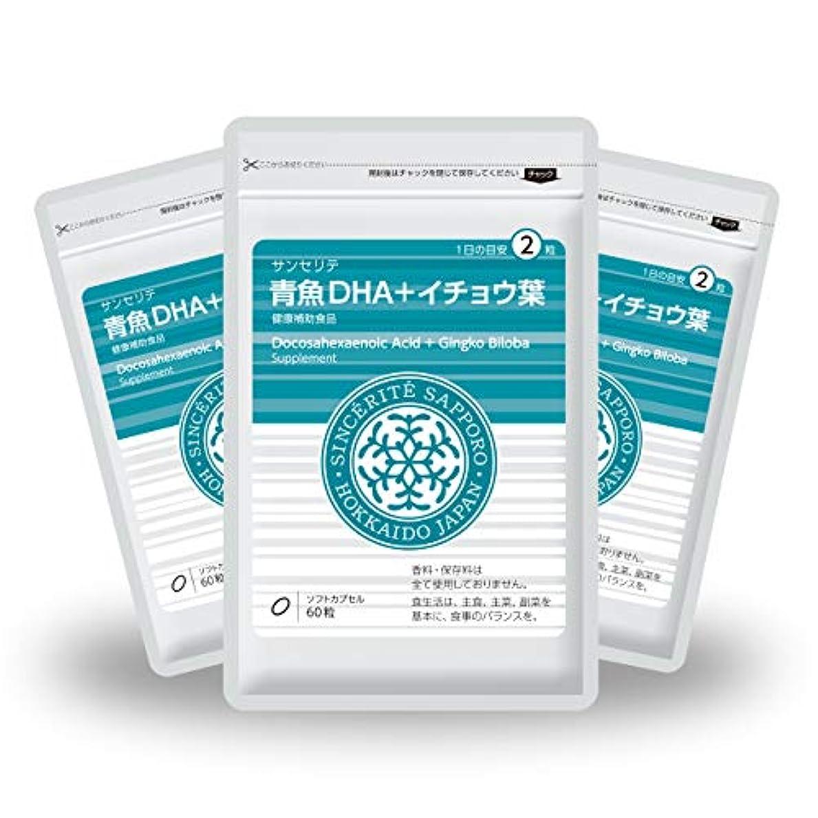 印象的なシードキャッチ青魚DHA+イチョウ葉 3袋セット[送料無料][DHA]101mg配合[国内製造]お得な90日分