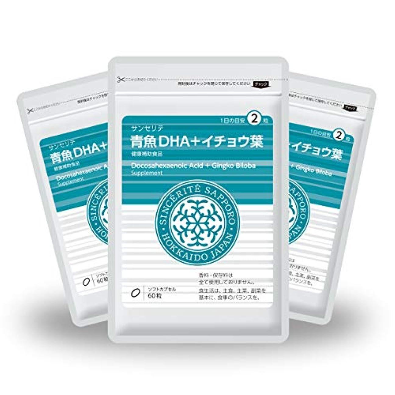 微弱ソーセージシャーロットブロンテ青魚DHA+イチョウ葉 3袋セット[送料無料][DHA]101mg配合[国内製造]お得な90日分