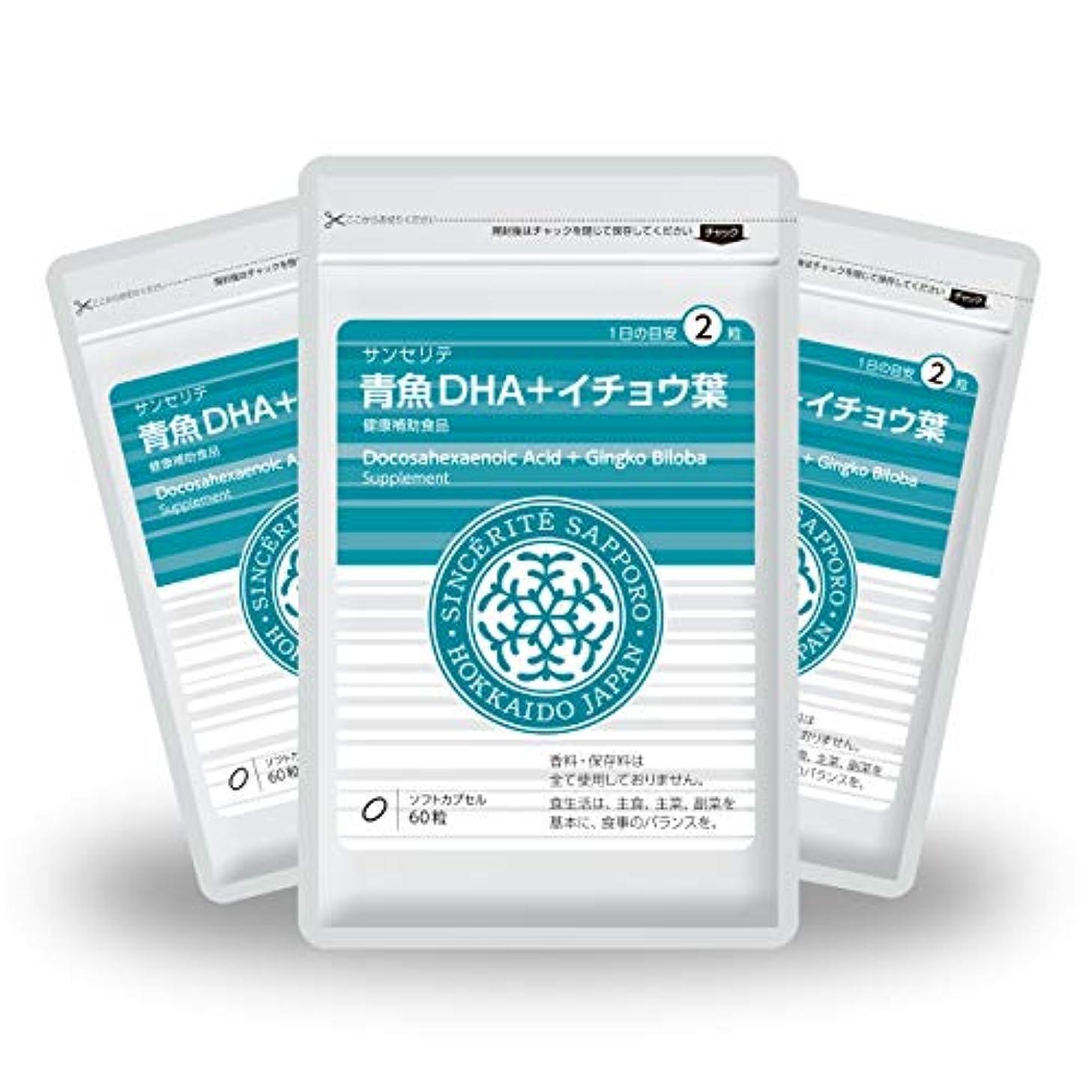 つづり詳細に底青魚DHA+イチョウ葉 3袋セット[送料無料][DHA]101mg配合[国内製造]お得な90日分