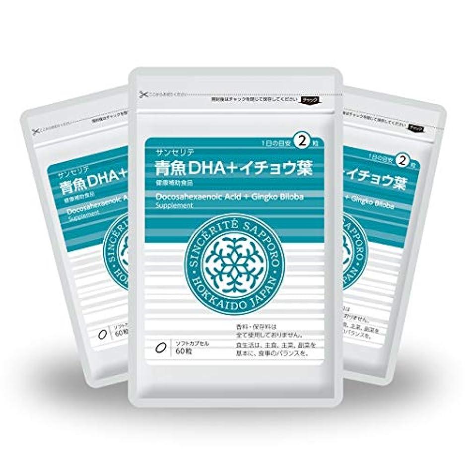 スカート修羅場ベルベット青魚DHA+イチョウ葉 3袋セット[送料無料][DHA]101mg配合[国内製造]お得な90日分