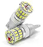 T10 T16 LED バックランプ 爆光 36W相当 2個セット 6000K ホワイト ポジション ルームランプ 白 12V W5W W16W ウェッジシングル球 無極性仕様 3014SMD 36連 LT10-36S3014NPW illumicraft(イルミクラフト)