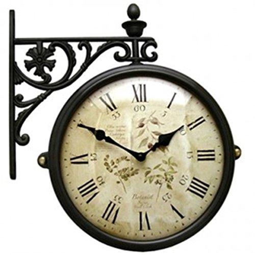 INTERNI(インテルニ) Silent Interior Double Face Wall Clock おしゃれな 低騷音 インテリア 両面壁掛け時計 M195Br-F6