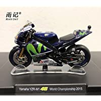 RIAN DAY 1/18 Scale MOGOTP Motorbike Model Toys Valentino Rossi VR46 Yamaha Yzr-m1 46 World Championship 2015 Diecast Metal Motorcycle Model Toy For Gift