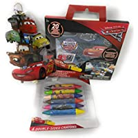 Back to School幼児用pre-school Elementary School Suppliesクレヨン鉛筆ポーチステッカー3 Piece Set Pixar Cars