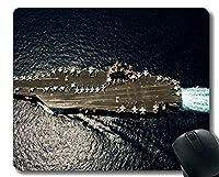 ステッチエッジ付きマウスパッド、軍用USS Abraham Lincoln(CVN 72)軍艦滑り止めラバーゲームマウスパッド