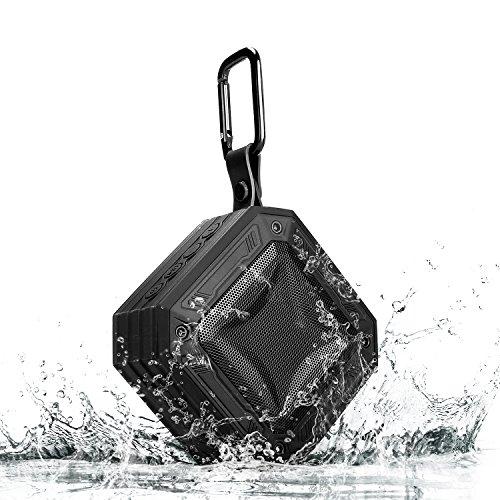 Bluetoothスピーカー IPX7防水 アウトドア ポータブルスピーカー Techvilla Vigor2 Bluetooth 4.2 ワイヤレススピーカー 16連続再生時間 内蔵マイク(ブラック)