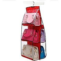 バッグ収納ホルダー 吊り下げ式 クローゼット内のバッグや小物保管にクローゼット用収納シリーズ バッグ?かばん収納用ハンギングラック かばん用収納ポケット