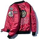 ジャンパー MA1 メンズ ロング丈 アメカジ ストリート エムエーワン ワッペン付き 刺繍 B2015A-XXL
