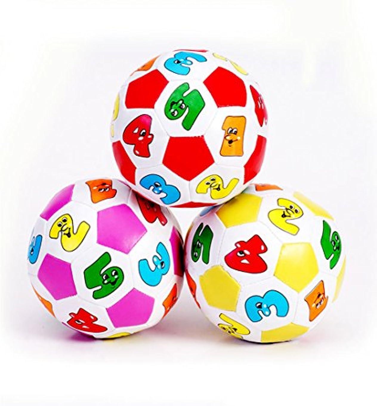 観客ピストルシアーキュートなベビーボールトイwithデジタル教育、スポーツサッカーボールwith aベルサウンドfor Kids子供早期教育とパズル小さなおもちゃ