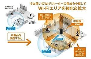 BUFFALO 無線LAN中継機 11n/g/b 300Mbps エアステーション Giga 据え置き WEX-G300