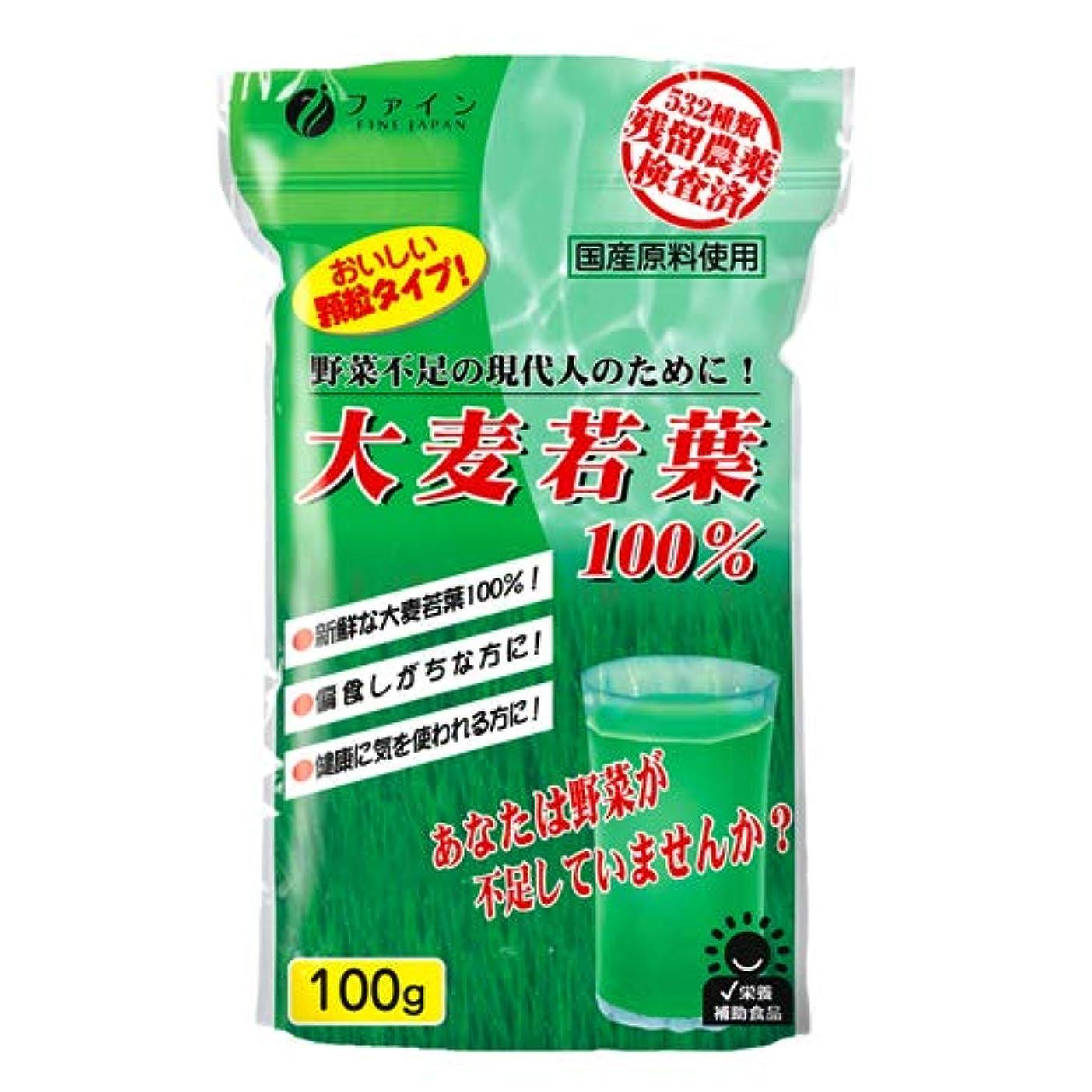 レベル寄り添う分解するファイン 大麦若葉100% 100g 【30袋組】
