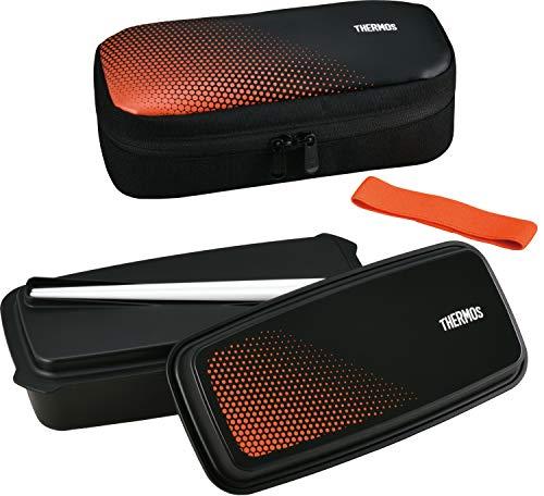 サーモス フレッシュランチボックス 600ml ブラックオレンジ DJO-600 BKOR