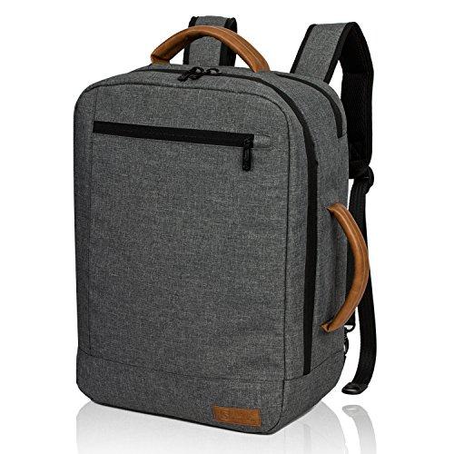 ALLCAMP ビジネスリュック メンズ バックパック 大容量 15.6型 ノートPC iPad 収納 マチ拡張 通勤 1~2泊の出張対応 (グレー)