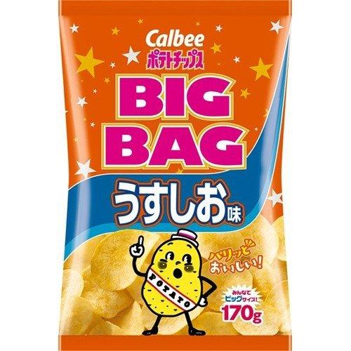 カルビー ポテトチップス ビッグバッグ うすしお味(170g) フード お菓子 スナック菓子 [簡易パッケージ品] k1-4901330502911-ak