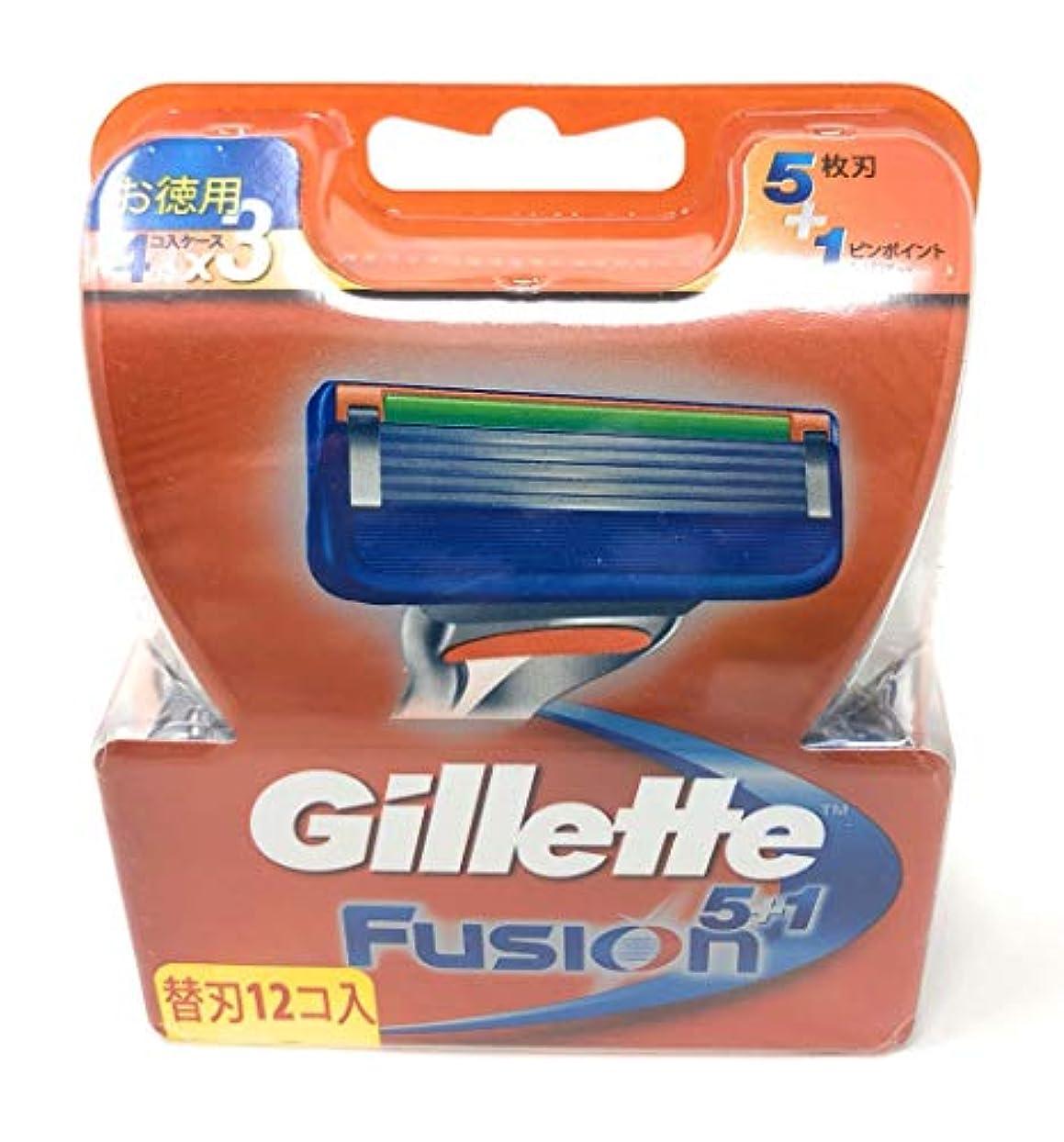 フリース出来事有害なジレット フュージョン5+1 マニュアル 髭剃り 替刃 12コ入 (景品付き)