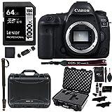 Canon EOS 5D Mark IV Full Frame DSLR Camera Body NANUK 920 Hard Case With Cubed Foam Lexar Professional 1000x 64GB Memory Card and Accessory Bundle [並行輸入品]