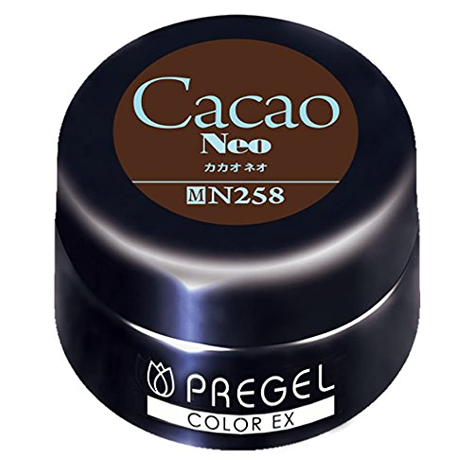 束自己尊重気取らないPRE GEL カラーEX カカオneo 258 4g UV/LED対応